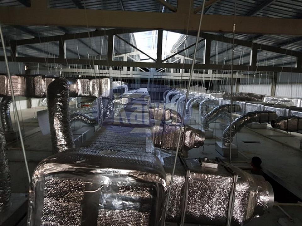 Hệ sạch ống khí sạch tại nhà máy dược Tradiphar