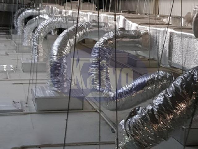 Hệ thống ống gió cho phòng sạch được lắp đặt tại nhà máy dược