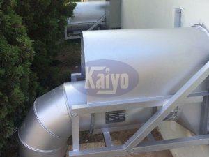 Hệ thống đường ống thoát khí được lắp đặt tại nhà máy Nippon Seiki