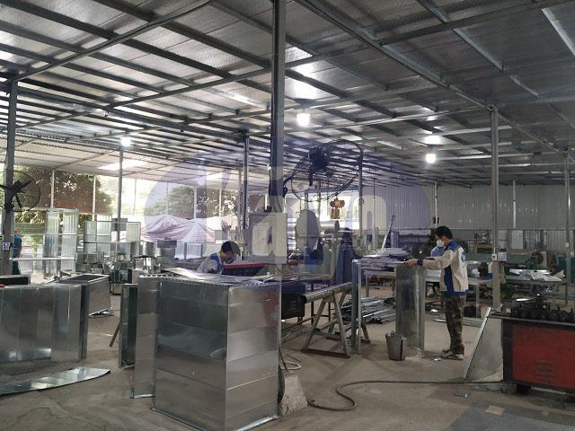 Quá trình sản xuất ống gió và phụ kiện được ghi nhận tại Kaiyo Việt Nam