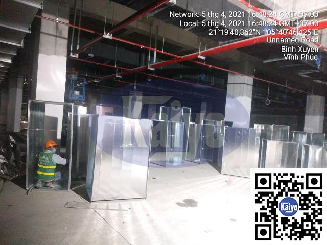 Hệ thống hút khói tại nhà máy Compal Vĩnh Phúc được thực hiện bởi Kaiyo Việt Nam