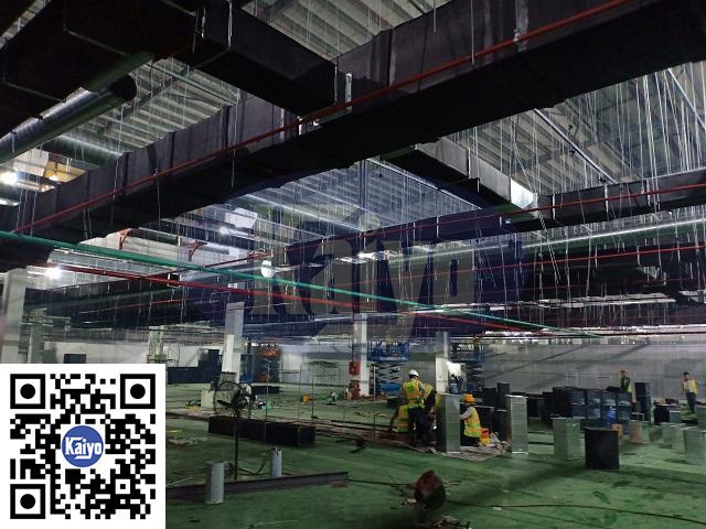 Hệ thống đường ống hút khói tại nhà máy Ja Solar Bắc Giang