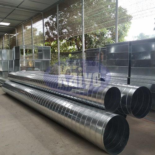 Sản phẩm ống gió tròn xoăn tôn mạ kẽm D700